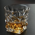 Diamond Whiskey Glasses,Crystal Scotch Glass, Malt or Bourbon, Glassware Gift.