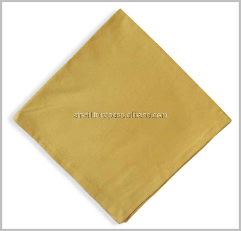 Solid yellow printed table Napkins