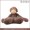 Sedex factory long arms and legs brown monkey lovely plush toy