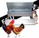 FRD-Galvanized Pressure Plate Chicken Treadle Feeder For Australian