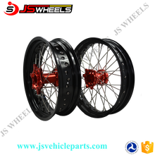 "17"" Full Spoked Alloy Wheel Rims for CRF250r crf450 Super Motard Motorcycle"