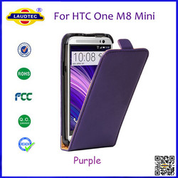 For HTC One M8 Mini Flip Leather Case