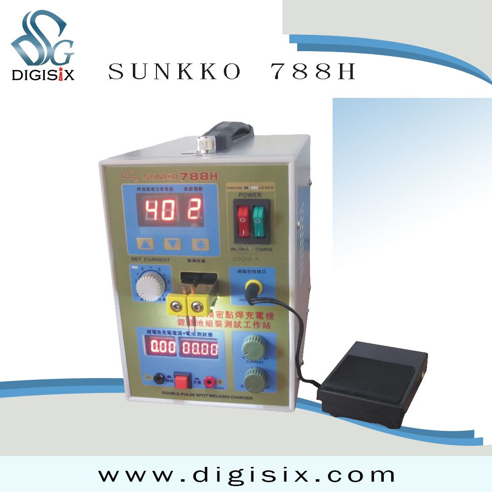 free shipping hot SUNKKO 788H Battery Spot Welder & Test & Battery Charger with LED light