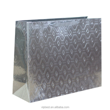 custom printed luxury paper bag with silver or gold stamping