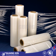 professional manufacture UV stablized transparent food grade self adhesive plastic LLDPE MPE stretch shrink cling film rolls