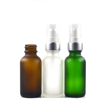 30ml 60ml 2oz 120ml 3oz Boston Round Glass cosmetic packaging Bottles with mist spray caps