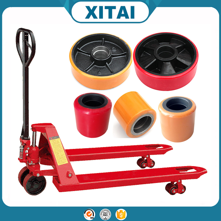 Hand pallet truck wheel small rubber wheel with bearings