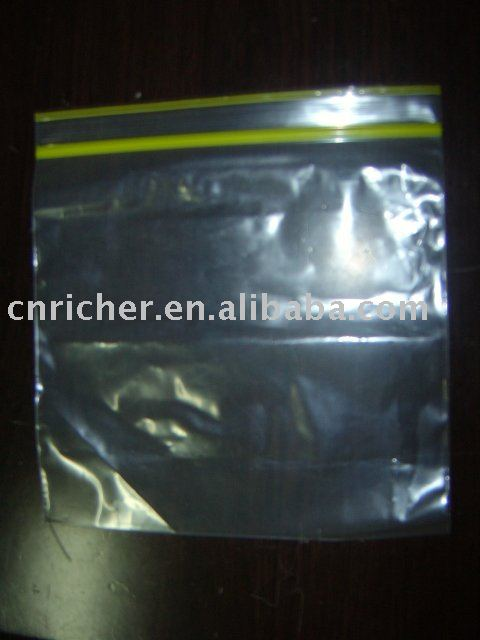 Plastic clear zipper lock bag waterproof, airproof, dampproof