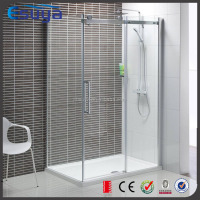 Frameless glass screen sliding hydro glass shower enclosure for free standing