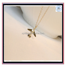 2017 Fashion Wholesale X-POLO Gold Alloy Airplane Long Chain Necklace for unisex wedding,gift,part,anniversary Engagement