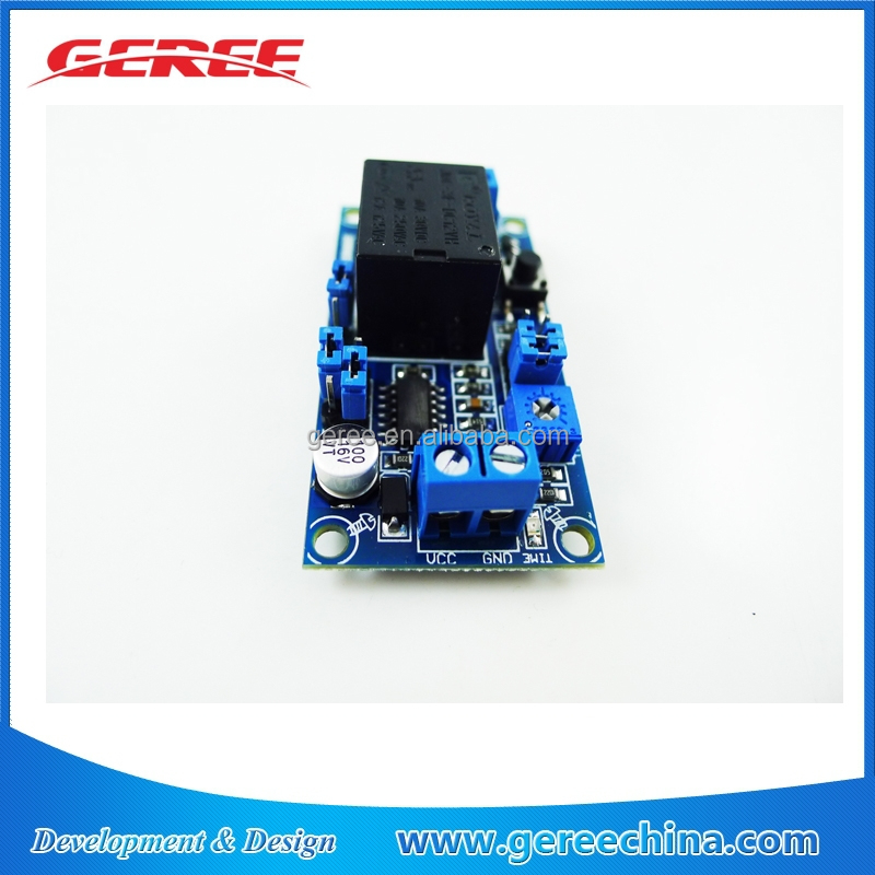 Geree protection time timer delay relay module 12v 0.1s to 1 hour Turn on/Turn off with reset button