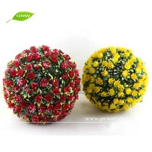 GNW hanging decorative artificial flower ball with artificial rose flower for wedding decoration