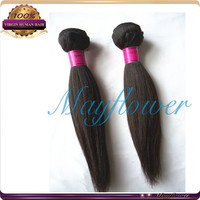 8 inch Brazilian virgin remy uaki straight extension natural color double and strong weft hair