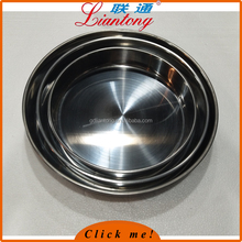HOT SALE CHEAP 28-32-36 3pcs set stainless steel deep ROUND cake tray, round plate for steaming