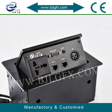 Multimedia tabletop socket desktop socket box 3 phase plugs and sockets