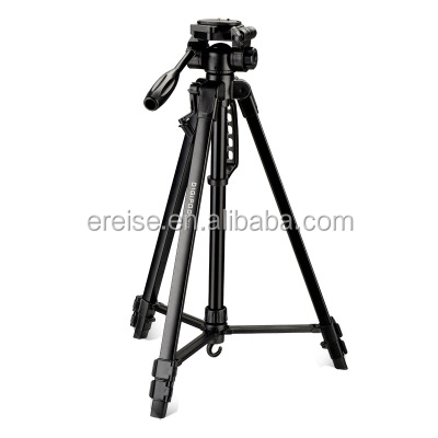 E-REISE Newest Black 3 Sections 67inch Length Weight DSLR Camera Tripod For Outdoor Photography