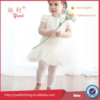 Beautiful lace tube kids model Korean girls in nylon pantyhose