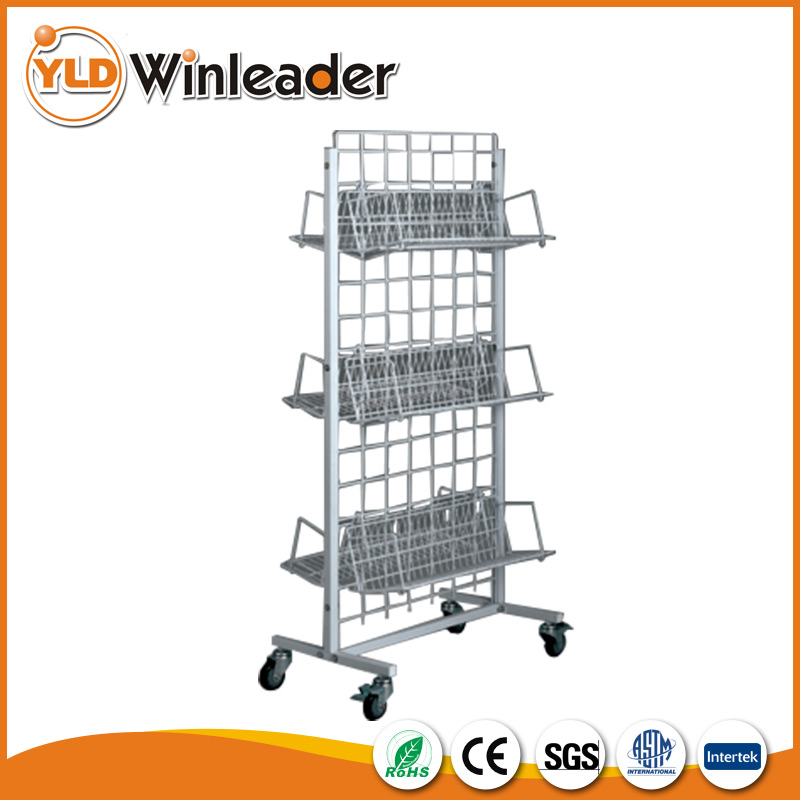 Wire display stand,metal wire shelving,supermarket display rack