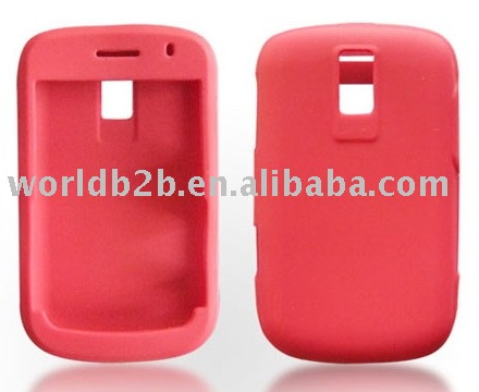 Silicon case for blackberry 9000(Red)