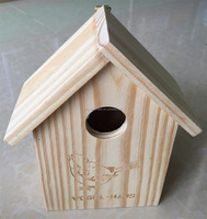 soild wood bird house with laser carved words
