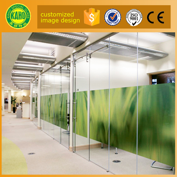 10mm 12mm tempered glass price per square meter for digital printing on glass interior partition wall