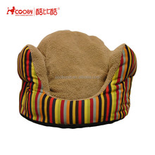 plush covered cuddle pet dogs bed