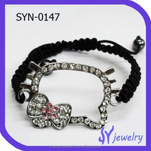 Lovely Hello Kitty Crystal Shamballa Bracelets In Different Colors
