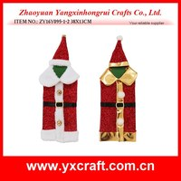 2015 hot sale Santa Claus patterns wine bottle covers for Christmas gifts