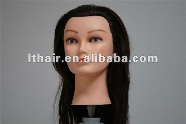 Training manequin Head With Human Hair For Practicing
