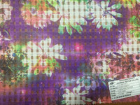 digital organza printed voile fabric /crystal organza/100% polyester