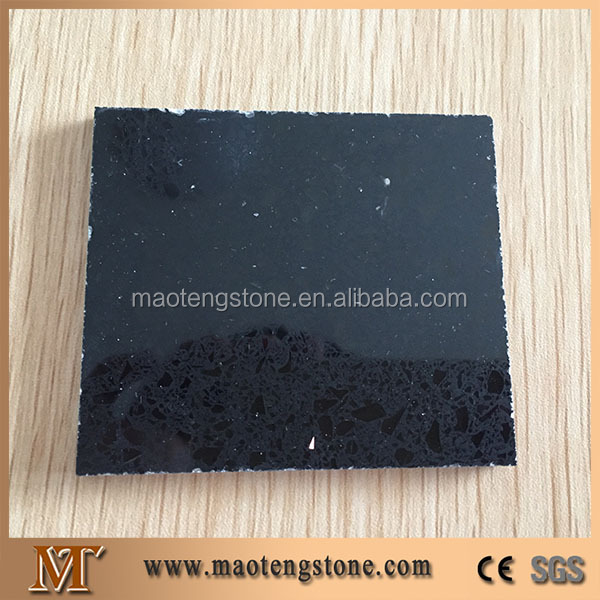 Low cost artificial man made stone crystal black quartz