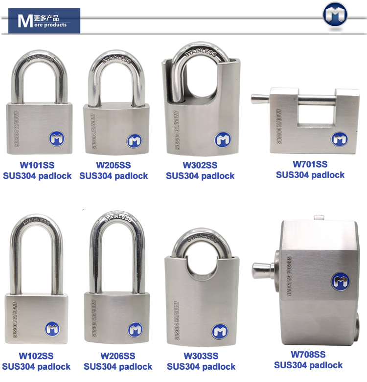 M lock W33/50WF Rotating Disc Cylinder Stainless Steel Padlock 30mm mini padlock