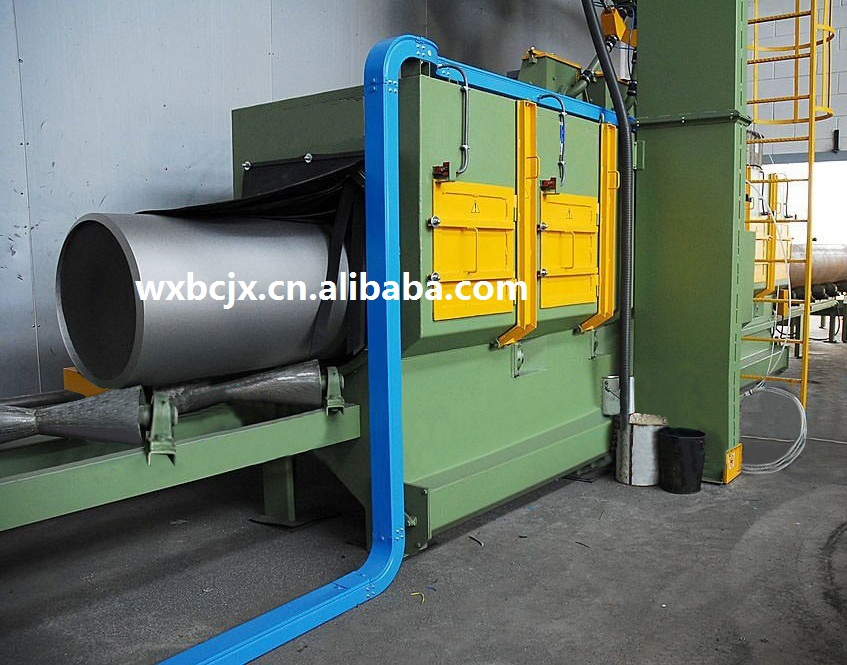the shot blasting machine used for steel pipe surface descaling has best selling