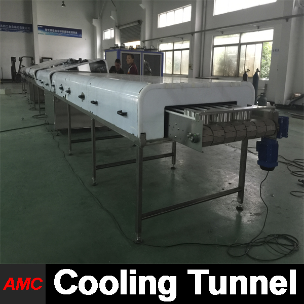 Stainless Steel Easy Operation manufacturing processing machinery Cooling Tunnel Machine