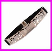 KDA3374 Factory supply OEM gold metal waist elastic belt
