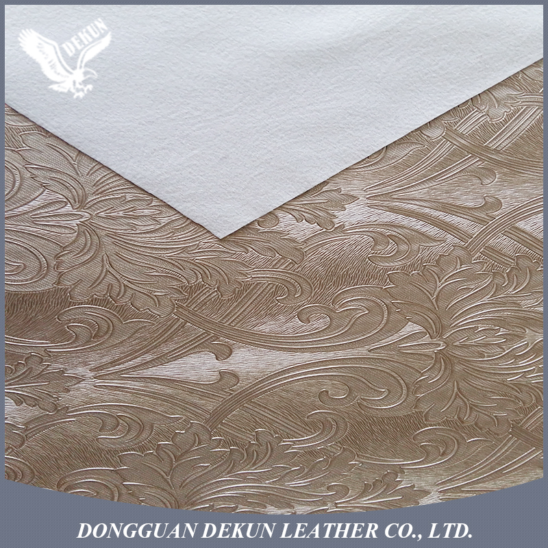0.8mm thickness polyester decoration PVC synthetic leather