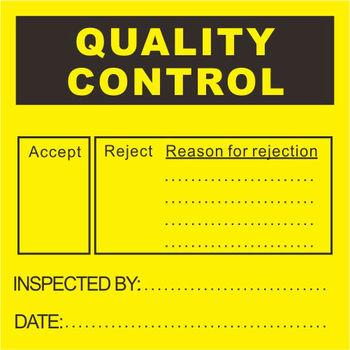 Custom Quality Control Labels Inspection Labels Buy Qa