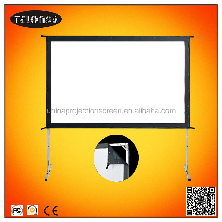 portable fast fold screen with front and rear material with flight case