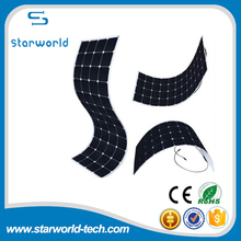 Portable Roll Up Semi Flexible Solar Panel Marine Roof Bendable Sunpower Solar Panel 30W-200W