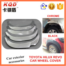 ABS plastic fender flares for TOYOTA HILUX VIGO Thailand , excellent design 4*4 accessories chrome car wheel cover