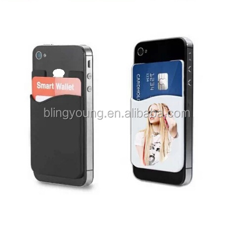 Cheap Promotion 3M Sticker Silicone Mobile Phone Wallet Case