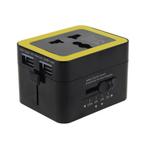 Residential/General purpose integrated power switch 2 usb 6A travel adapter