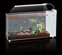 creative Environmental Protection High Transparent fish Aquarium/Pet Fish Tank/Fancy Fish Tank with a striplight illumination