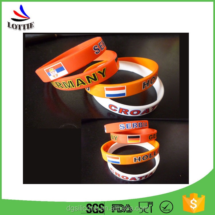 China manufacturer BPA Free 100% food grade silicone wristbands
