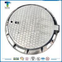 Municipal industrial use low price cast iron standard manhole covers sizes