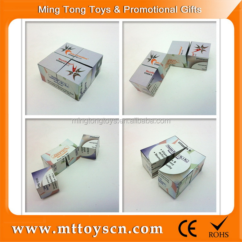 Promotional plastic magic puzzle cube