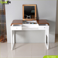 Arc-shaped floor dressing table with flip up mirror from China