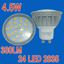 24 SMD2835 4.5W 120 degree bean angle aluminum Spotlight GU10 LED