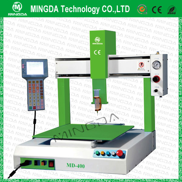 Industrial SMT High Sticky Solder Paste , Silicone glue Dispenser Machine / automatic 3 axis dispensing manipulator