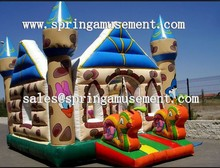 inflatable snail bouncy castle SP-IB036